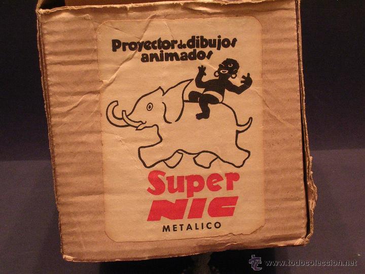 Juguetes Antiguos: PROYECTOR DE PELICULAS SUPER NIC AÑOS 50 CON SU CAJA ORIGINAL - Foto 10 - 108931616