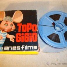 Juguetes Antiguos: ANTIGUA PELICULA SUPER 8 MM PELICULAS ARIES FIMS TOPO GIGIO. Lote 50173186