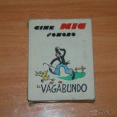 Juguetes Antiguos: LOTE 6 PELICULAS ESTUCHE COMPLETO DIFERENTES CINE NIC SONORO EL VAGABUNDO SERIE I. Lote 50237003