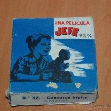 Juguetes Antiguos: PELICULA PROYECTOR JEFE 9 1/2 MM Nº52 CONCURSO HIPICO 8 METROS. Lote 50702975