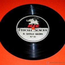 Juguetes Antiguos: DISCO PELÍCULA SONORA CINE NIC SONORO: Nº 22 CASTILLO MALDITO Y Nº 13 EL GRAN PREMIO.. Lote 51805411