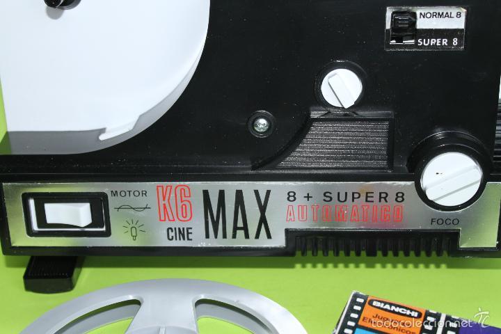 Juguetes Antiguos: PROYECTOR 8 SUPER 8 BIANCHI CINE MAX K6 FUNCIONANDO - Foto 2 - 56300321