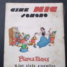 Juguetes Antiguos: BLANCANIEVES CINE NIC SONORO - CAJA COMPLETA - SERIE G - LETRA N. Lote 56837741