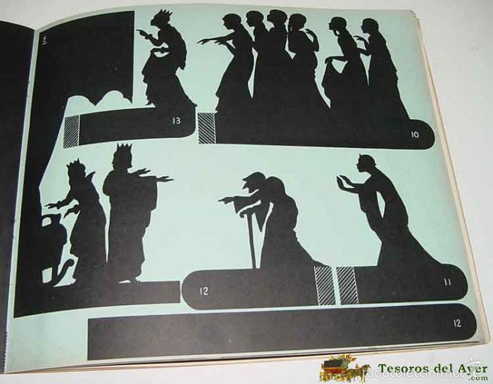 Juguetes Antiguos: ANTIGUO TEATRILLO DE JUGUETE DE SOMBRAS CHINESCAS - THEATRE D´OMBRES DU PERE CASTOR - PRE CINE - OMB - Foto 3 - 38246600