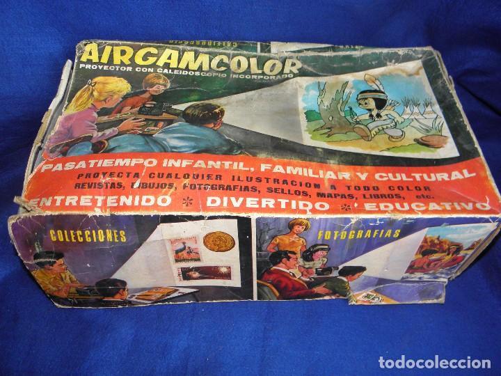Juguetes Antiguos: PROYECTOR AIRGAMCOLOR DE AIRGAM - PARA PIEZAS O RESTAURAR - Foto 9 - 74609395