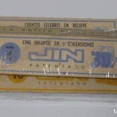 Juguetes Antiguos: LOTE DE 9 PELICULAS DE CINE INFANTIL EN 3 DIMENSIONES JIN. LEER. EL DE LA FOTO. Lote 80174897