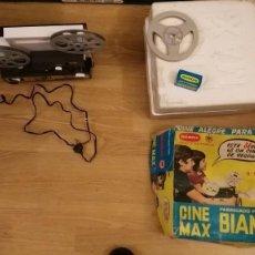 Juguetes Antiguos: MÁQUINA DE CINE CINE MAX K 6 - 8 + SUPER 8 AUTOMÁTICO MARCA BIANCHI - FUNCIONA. Lote 89222064