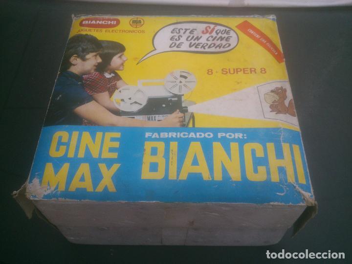PROYECTOR BIANCHI DE PELÍCULA NORMAL Y SUPER 8 MODELO K6 CINE MAX AUTOMÁTICO VINTAGE (Juguetes - Pre-cine y Cine)