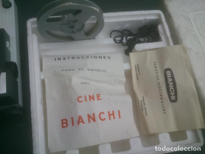 Juguetes Antiguos: PROYECTOR BIANCHI DE PELÍCULA NORMAL Y SUPER 8 MODELO K6 CINE MAX AUTOMÁTICO VINTAGE - Foto 5 - 90932410