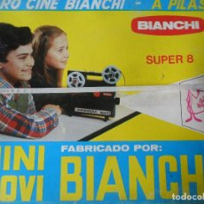 Juguetes Antiguos: CINE BIANCHI - PROYECTOR SUPER 8 - MINI MOVI BIANCHI - NUEVO NUNCA ABIERTO -. Lote 95895471