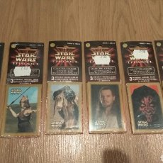 Juguetes Antiguos: 6 PACKS CROMOS VINTAGE STAR WARS EPISODE I. Lote 110885078