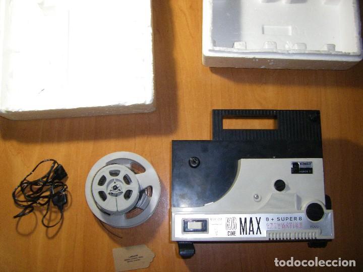 PROYECTOR CINE MAX K - 6 BIANCHI 8 + SUPER 8 CON PELÍCULAS (Juguetes - Pre-cine y Cine)