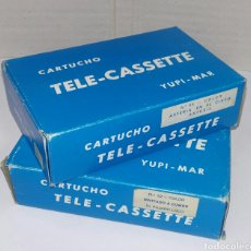Juguetes Antiguos: LOTE 2 CARTUCHO TELE CASSETTE YUPI MAR. ASTÉRIX EN EL CIRCO. EL PÁJARO LOCO. INVITADO A COMER.. Lote 111541458