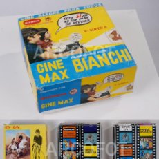 Juguetes Antiguos: CINE MAX BIANCHI 8 SUPER 8 + 3 PELÍCULAS BIANCHI. Lote 111708191