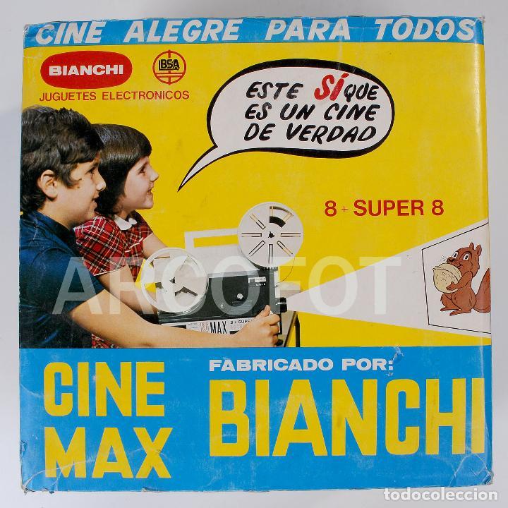 Juguetes Antiguos: CINE MAX BIANCHI 8 SUPER 8 + 3 PELÍCULAS BIANCHI - Foto 2 - 111708191