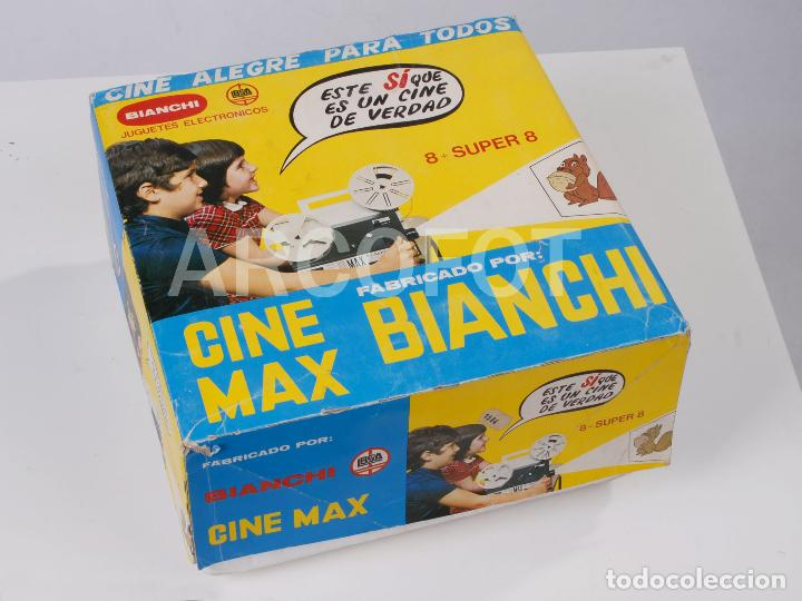 Juguetes Antiguos: CINE MAX BIANCHI 8 SUPER 8 + 3 PELÍCULAS BIANCHI - Foto 6 - 111708191