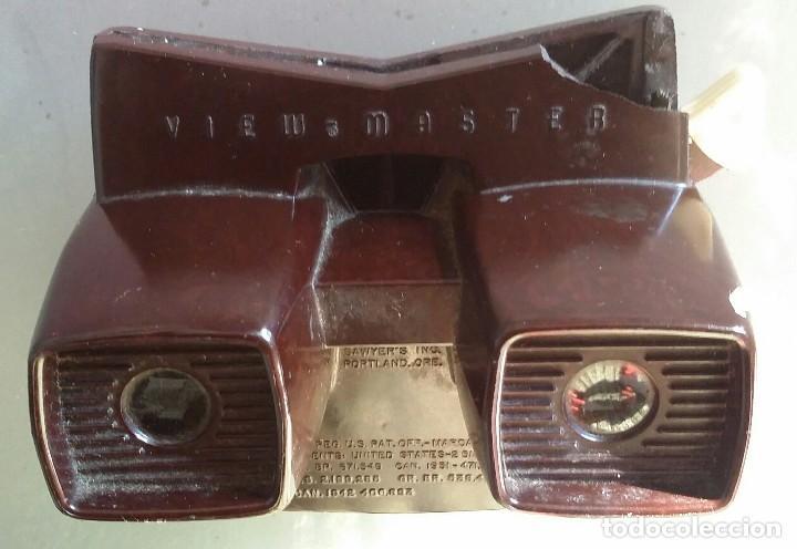 Juguetes Antiguos: ANTIGUO VISOR ESTEREOSCOPICO VIEW MASTER 3 D DE BAQUELITA - Foto 3 - 111982603