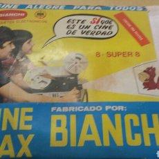 Juguetes Antiguos: CINE MAX BIANCHI 8 + SUPER 8. CON 6 PELÍCULAS.. Lote 113152718