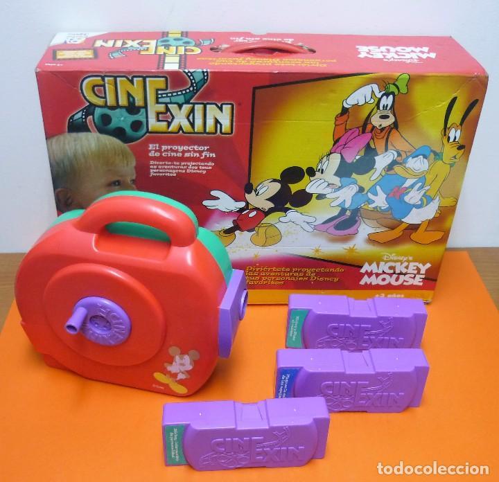 CINE EXIN MICKEY MOUSE + 3 PELÍCULAS - FUNCIONANDO (Juguetes - Pre-cine y Cine)