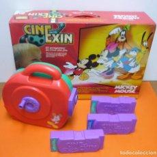 Juguetes Antiguos: CINE EXIN MICKEY MOUSE + 3 PELÍCULAS - FUNCIONANDO. Lote 113466991