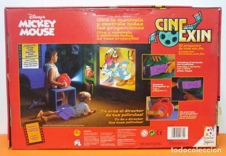 Juguetes Antiguos: CINE EXIN MICKEY MOUSE + 3 PELÍCULAS - FUNCIONANDO - Foto 3 - 113466991