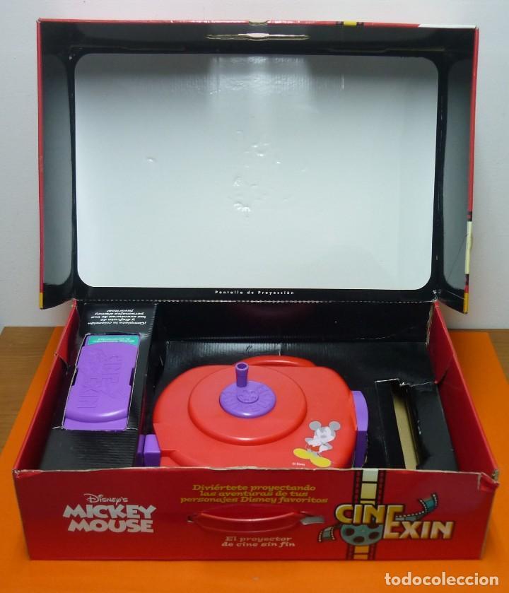 Juguetes Antiguos: CINE EXIN MICKEY MOUSE + 3 PELÍCULAS - FUNCIONANDO - Foto 4 - 113466991