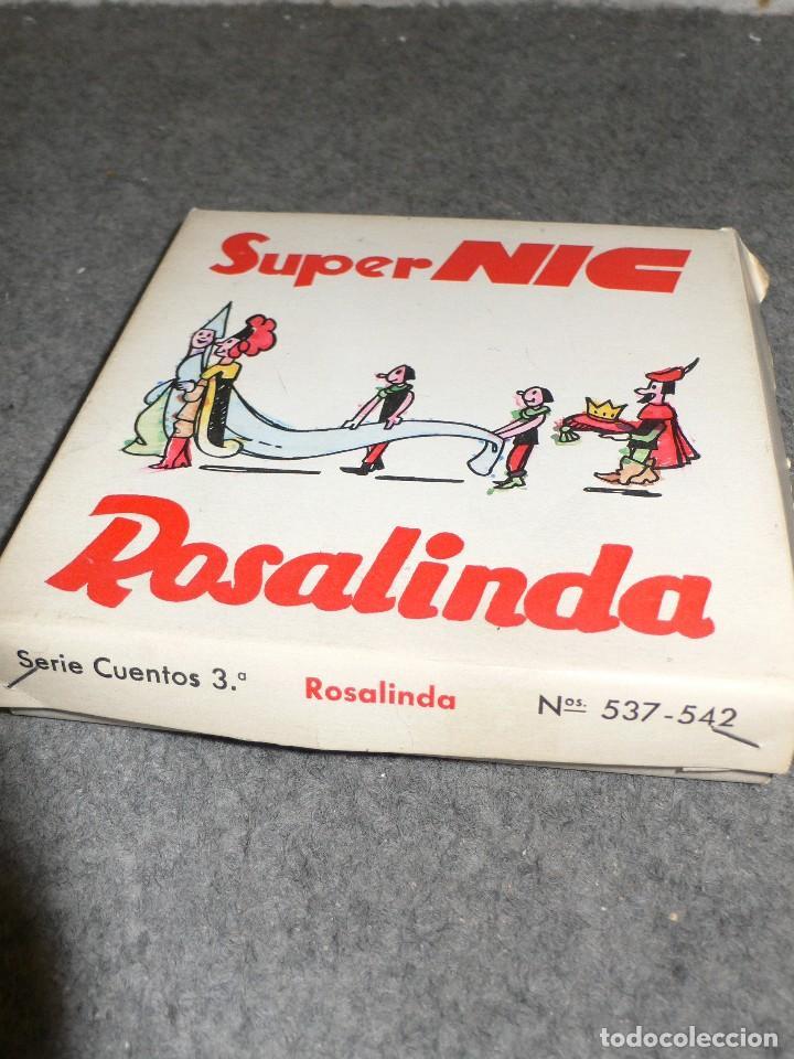 ANTIGUA CAJA COMPLETA PELÍCULAS SUPER NIC PANTALLA PANORÁMICA ROSALINDA (Juguetes - Pre-cine y Cine)