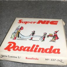 Juguetes Antiguos: ANTIGUA CAJA COMPLETA PELÍCULAS SUPER NIC PANTALLA PANORÁMICA ROSALINDA. Lote 117367103