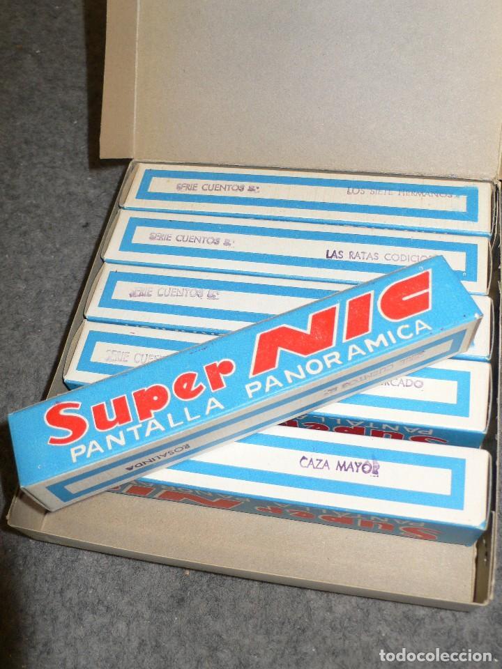 Juguetes Antiguos: ANTIGUA CAJA COMPLETA PELÍCULAS SUPER NIC PANTALLA PANORÁMICA ROSALINDA - Foto 4 - 117367103
