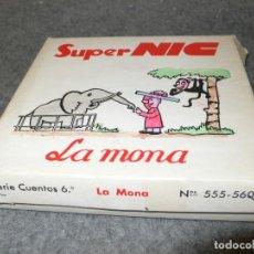 Juguetes Antiguos: ANTIGUA CAJA COMPLETA PELÍCULAS SUPER NIC PANTALLA PANORÁMICA LA MONA. Lote 117367475