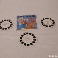 Juguetes Antiguos: M69 LOTE DE TRES DISCOS PARA VISOR ESTEREOSCÓPICO VIEW MASTER DEL PATO DONALD. 1957.. Lote 118025247