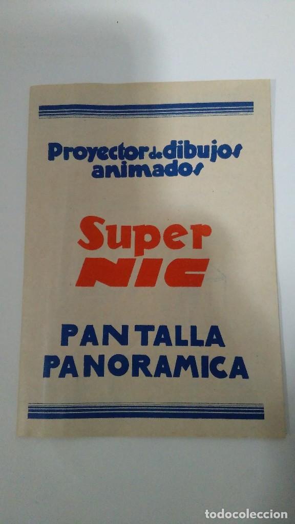 Juguetes Antiguos: PROYECTOR DE DIBUJOS ANIMADOS SUPER NIC PANTALLA PANORÁMICA Y LOTE DE PELICULAS - Foto 9 - 139232416