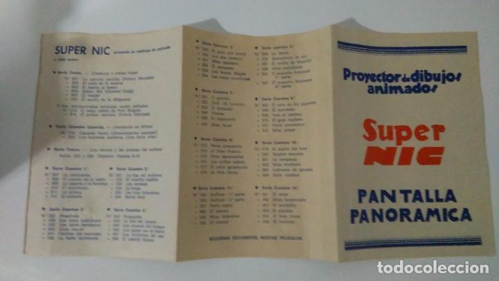 Juguetes Antiguos: PROYECTOR DE DIBUJOS ANIMADOS SUPER NIC PANTALLA PANORÁMICA Y LOTE DE PELICULAS - Foto 12 - 139232416