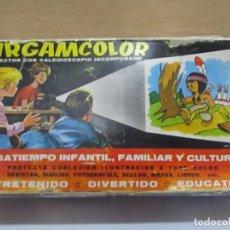 Brinquedos Antigos: PROYECTOR AIRGAMCOLOR CON CALEIDOSCOPIO - EN SU CAJA ORIGINAL. Lote 123351879