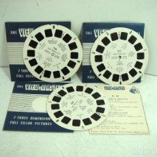 Giocattoli Antichi: NEW YORK CITY USA - VIEW MASTER 3 DISCOS 21 VISTAS 3D COLOR -1952 156,157,158 -DISCO RUEDA ESTEREO. Lote 124661271