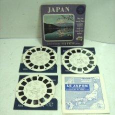 Giocattoli Antichi: JAPAN JAPON 1952 - VIEW MASTER 3 DISCOS ¡COMPLETA¡ 21 VISTAS 3D COLOR -DISCO RUEDA ESTEREOSCOPICAS. Lote 293343458