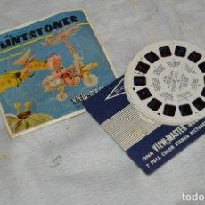 Juguetes Antiguos: CONJUNTO DE DIAPOSITIVAS VIEW MASTER - DE FLINTSTONES - AÑOS 50/60 - 21 STEREO FOTO'S - ENVÍO 24H. Lote 128249127