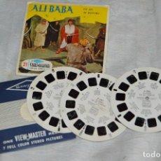 Juguetes Antiguos: CONJUNTO DE DIAPOSITIVAS VIEW MASTER - ALI BABA - AÑOS 50 / 60 - 21 STEREO FOTO'S - ENVÍO 24H. Lote 128249615