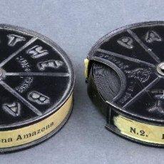 Juguetes Antiguos: 2 PELÍCULAS PATHÉ BABY 9,5 MM LA PEQUEÑA AMAZONA HACIA 1920. Lote 128975519