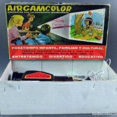 Juguetes Antiguos: AIRGAMCOLOR AIRGAM PROYECTOR CINE INFANTIL CON CALEIDOSCOPIO EN SU CAJA AÑOS 60. Lote 133100354
