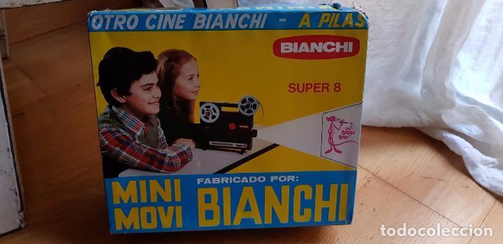ANTIGUO CINE MINI MOVI BIANCHI SUPER 8 A PILAS (Juguetes - Pre-cine y Cine)