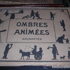 Juguetes Antiguos: SOMBRAS CHINESCAS - OMBRES ANIMEES-AMUSANTES SOBRE CON 5 LAMINAS PARA RECORTAR AUTOR A.C.COMPLETO-. Lote 136799710