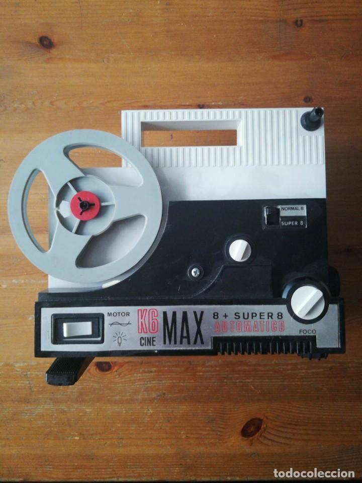 K6 CINE MAX 8 + SUPER 8 AUTOMÁTICO. BIANCHI Y 7 PELÍCULAS. (Juguetes - Pre-cine y Cine)
