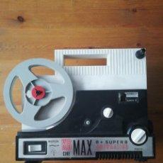 Juguetes Antiguos: K6 CINE MAX 8 + SUPER 8 AUTOMÁTICO. BIANCHI Y 7 PELÍCULAS.. Lote 150724498