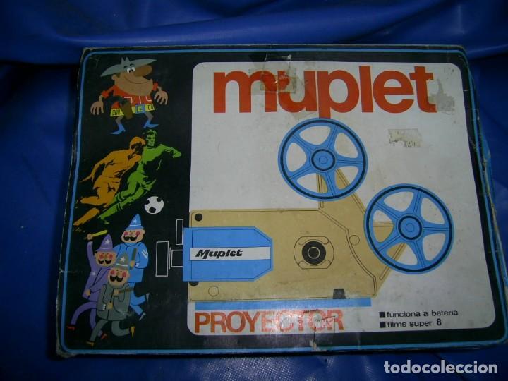 Juguetes Antiguos: Cine infantil Muplet...decada de los años 70-80...Curioso diseño. Caja original -Super 8-no probado. - Foto 3 - 151309330