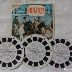 Juguetes Antiguos - 3 DISCOS BONANZA VIEW MASTER 3D - 151984390