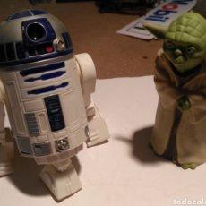 Juguetes Antiguos: LOTE FIGURAS R2-D2 Y YODA DE STAR WARS. Lote 153246068