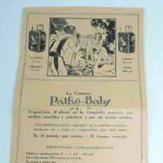 Juguetes Antiguos: CATÁLOGO DE PELÍCULAS EDITADAS EN ESPAÑOL, PATHE-BABY 1926, CATÁLOGO DESPLEGABLE CON LOS ARTÍCULOS Y. Lote 154238234