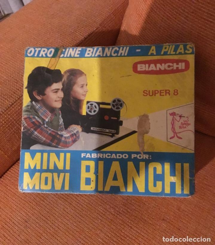 Juguetes Antiguos: Proyector súper 8 minimovi Bianchi - Foto 4 - 160430790