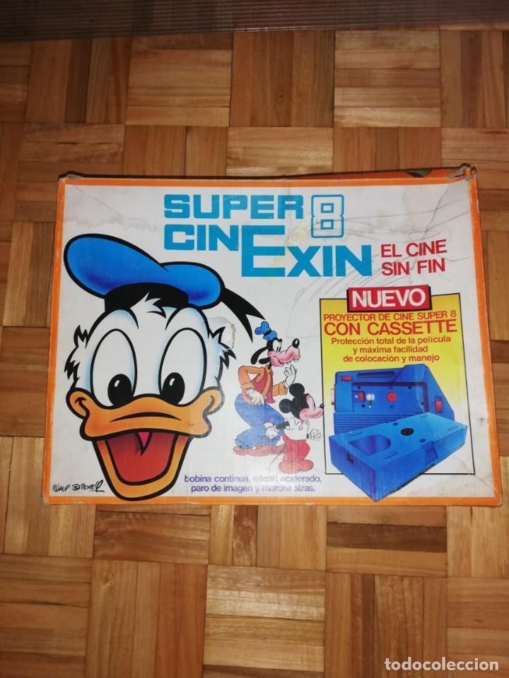 Juguetes Antiguos: Cine exin antiguo en caja con dos peliculas - Foto 2 - 163502218